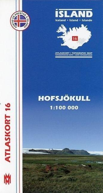 Island Atlaskort 16 Hofsjökull 1:100.000  (Land-)Karte  Island Atlaskort  Deutsch  2011