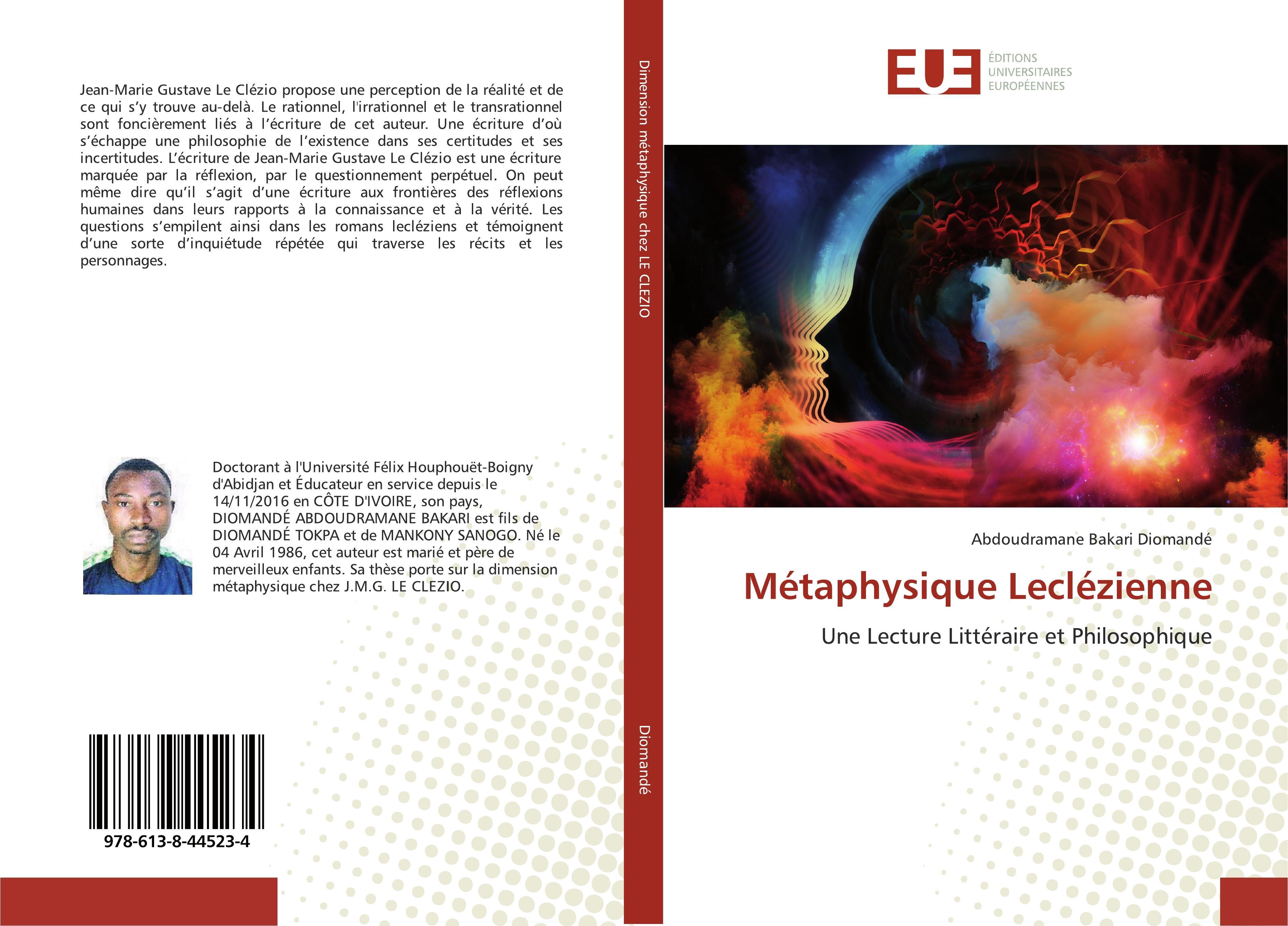 Métaphysique Leclézienne  Une Lecture Littéraire et Philosophique  Abdoudramane Bakari Diomandé  Taschenbuch  Paperback  Französisch  2019 - Diomandé, Abdoudramane Bakari