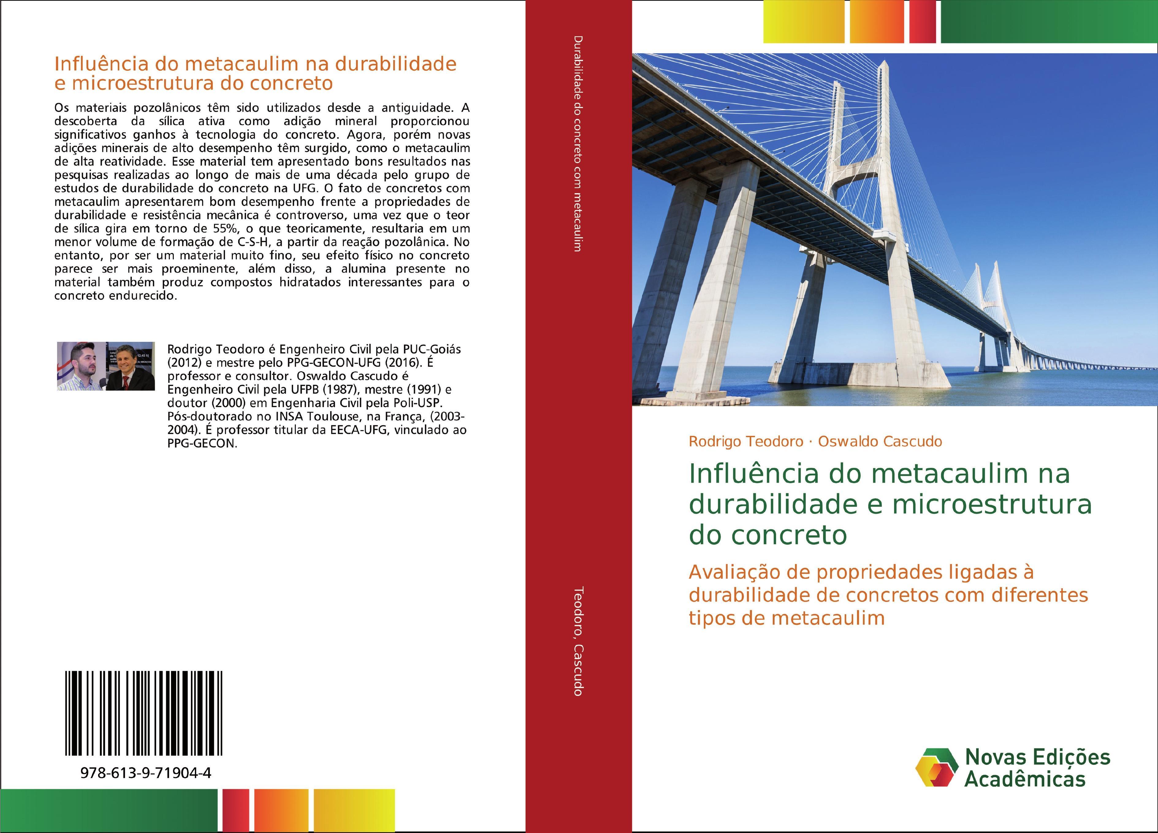 Influência do metacaulim na durabilidade e microestrutura do concreto  Rodrigo Teodoro (u. a.)  Taschenbuch  Portugiesisch  2018 - Teodoro, Rodrigo