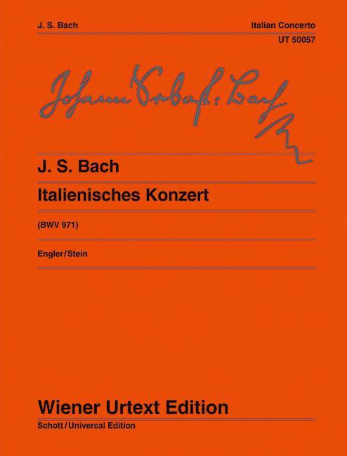 Italienisches Konzert  Klavierübung II/1. Nach Erstdrucken und Abschriften  Klaus Engler  Broschüre  Deutsch  1977 - Engler, Klaus