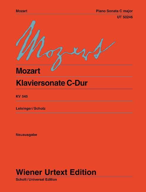 Klaviersonate C-Dur  KV 545  Ulrich Leisinger  Broschüre  Deutsch  2004 - Leisinger, Ulrich